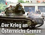 Das österreichische Bundesheer sichert den Grenzübergang Spielfeld, 1991