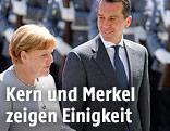 Die deutsche Bundeskanzlerin Angela Merkel und BUndeskanzler Christian Kern (SPÖ)