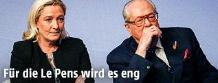 Marine Le Pen mit ihrem Vater Jean-Marie Le Pen
