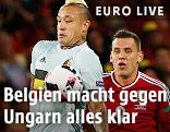 Szene aus dem Spiel Ungarn - Belgien