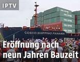 Das Kontainerschiff Cosco Shipping Panama