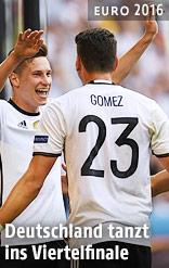 Mario Gomez und Julian Draxler (GER) jubeln