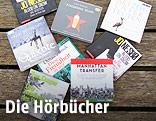 Hörbücher auf einem Steg