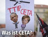 Protestplakat zu TTIP und CETA