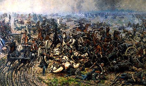 """""""Monumentalgemälde Die Batterie der Toten"""" vonVaclav Sochor, 1866"""