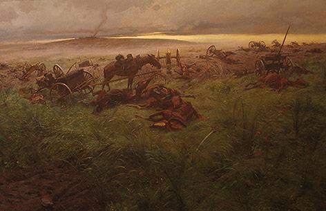 """""""Ein Ruhmesblatt der österreichischen Artillerie"""" von Rudolf Otto Ritter von Ottenfeld, 1897"""
