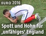 Gary Cahill am Boden weinend