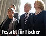 Margit und Heinz Fischer mit Doris Bures