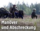 Norwegische Soldaten bei einem NATO-Manöver in Lettland
