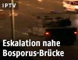 Panzer auf der Bosporusbrücke