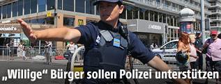 Polizistin in Nizza