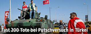 Ein okkupierter Panzer
