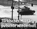 Panzer in Ankara 1980 bei einem Putsch des türkischen Militärs