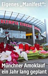 Blumen vor dem Olympia Einkaufszentrum in München