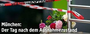 Blumen am Tatort in München