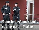 Polizei bewacht den Tatort in München