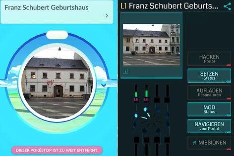 """Sehenswürdigkeit in der App """"Pokemon Go"""" und """"Ingress"""" im Vergleich"""