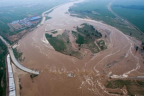 Überschwemmungen in der chinesischen Provinz Hebei