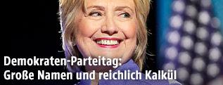 Demokratische Präsidentschaftskandidatin Clinton