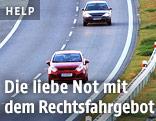 Autofahrer auf der Autobahn