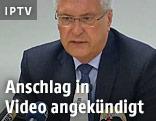 Der bayrische Innenminister Joachim Herrmann bei einer Pressekonferenz