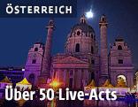 Beleuchtete Karlskirche