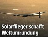 """Das Flugzeug """"Solar Impulse 2"""" über Spanien"""