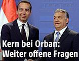 Kanzler Christian Kern und Ungarns Ministerpräsident Viktor Orban