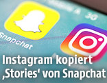 Handy mit Instagram und Snapchat