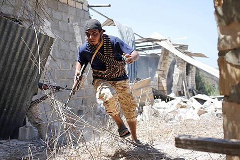 Kämpfer der libyschen Regierungstruppen