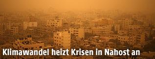 Sandsturm über Gaza City