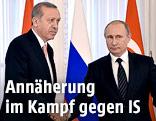 Russischer Präsident Putin und türkischer Premioer Erdogan