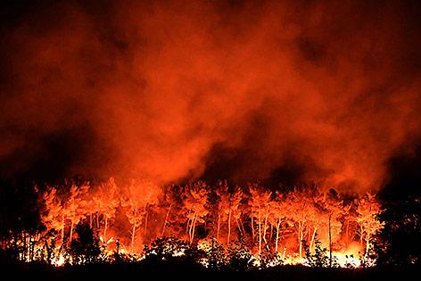Brand in Südfrankreich