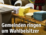 Wahlzettel im Wahllokal