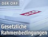 ORF-Logo auf Papier
