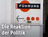 """ORF-Wegweiserschild mit Aufschrift """"Führung"""""""