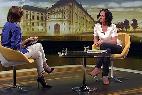 """Eva Glawischnig im """"ORF-Sommergespräch"""""""