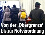 Flüchtlinge bei der Registrierung in Spielfeld