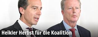 Bundeskanzler Kern und Vizekanzler Mitterlehner