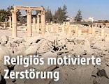 Zerstörte Teile der Stadt Palmyra
