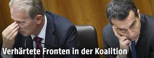 Christian Kern und Reinhold Mitterlehner