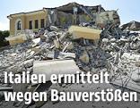 Eingestürzte Romolo-Capranica-Schule in Amatrice