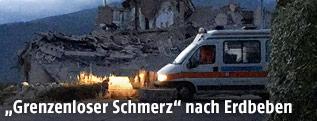 Krankenwagen im Erdbebengebiet