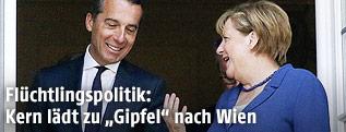 Bundeskanzler Christian Kern und die deutsche Bundeskanzlerin Angela Merkel