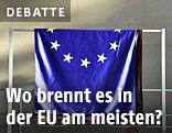 Aufgehängte EU-Fahne