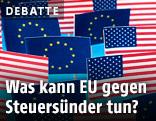 Flaggen der EU und USA