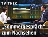 ORF-Moderatorin Susanne Schnabl interviewt FPÖ-Chef Heinz-Christian Strache