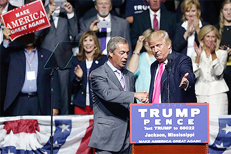 Nigel Farage und Donald Trump