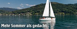 Segelboot auf dem See
