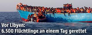 Flüchtlinge vor der lybischen Küste